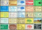 25 Alte Gasthausetiketten Aus Hamburg Und Umgebung, Deutschland Mit Postleitzahl 2000, #10 - Luciferdozen - Etiketten