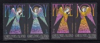 Christmas Island MNH Scott #56a, #58a Set Of 2 Se-tenant Pairs: Angels, Peace, Joy - Christmas - Christmas Island