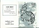 Calendrier De Poche : Agenda De Coiffure 1969 - Salon 95 Enghein Les Bains - Illustré Avec Photo Coiffure Féminine - Small : 1971-80