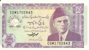 PAKISTAN 5 RUPEES 1997 UNC P 44 - Pakistan