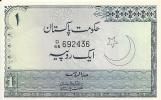 PAKISTAN 1 RUPEE ND1975-81 UNC (leger Trou D´agraffe) P 24A - Pakistan