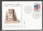 CARTE COMMEMORATIVE 44e JOURNEE DU TIMBRE PETANGE TP N° 1111 (CACHET POSTAL DE PETANGE) (SCAN VERSO) - Cartes Commémoratives