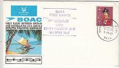 Fiji: BOAC First Flight, UK-USA-Fiji-Australia South Pacific Service, 3 Apr 1967 - Airplanes