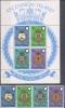 K 78 LOT ASCENSION ISLAND  X  YVERT NRS 167/170 + BLOK 6  ZIE SCAN - Briefmarken