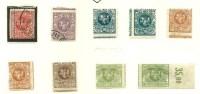 LITAUEN Lithuania 1919 Printing - & perforation ERROR */o Lot 2