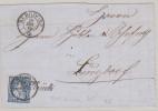 Heimat BE ZOLLBRÜCK 1865-12-18 Schreibschrift Stempel Auf 10Rp Zu#31 Sitzende Helvetia - 1862-1881 Helvetia Seduta (dentellati)