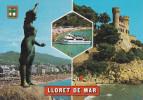 España--Gerona--1985--Lloret De Mar--Diversas Vistas---Castillo--a, Marq En Bareouil, Francia - Castillos