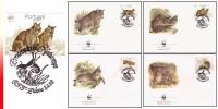 WWF Portugal 4 FDC  Felins - FDC
