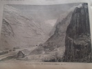Switzerland - Bilder Vom Gotthardtunnel - Die Tunneleinfahrt Bei Göschenen -   Holzschnitt Gravure 1880  IW1880.468.1 - Estampes & Gravures