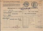 Postkarte Brief Beleg Lieferschein Quittung Elsass - Bischwiller 1949 - Besetzungen 1938-45