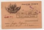 """1940 - CARTE DE FRANCHISE MILITAIRE Avec CACHET """"LES PARRAINS AUDONIENS / SAINT OUEN"""" - Guerra Del 1939-45"""