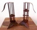 Pair Of Artisan Iron Candle Holders - Menorca Balears - Ca 1850 - Ironwork