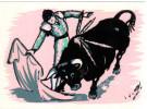 CPSM FEUTRINE CORRIDA DE TOROS PASE CHANGE - Cartes Postales