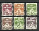 DENMARK Dänemark Freimarken Wellenlinie * - Ungebraucht