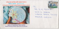 India  2012  Textiles  Embridery  Fashion  Mailed Cover  # 87615  Inde Indien - Textile