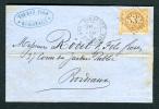 France - Letter W. 10 Cent Napoleon III Stamp Sent To BORDEAUX - 1853-1860 Napoleon III