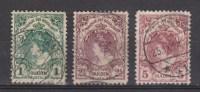 NVPH Nederland Netherlands Pays Bas Niederlande Holanda 77 78 79 Used ; Koningin  Queen Reine Reina Wilhelmina 1899 - Oblitérés