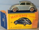 MATCHBOX  SERIES   A  LESNEY PRODUCT N° 25   Volkswagen Sedan - Collectors & Unusuals - All Brands