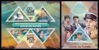 TOGO 2013 - Luis De Funes - YT 3312-5 + BF688; CV = 32 € - Film