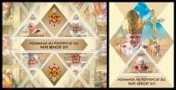 TOGO 2013 - Pope Benedict XVI - YT 3316-9 + BF689; CV = 32 € - Papas