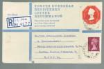 1973 REGISTERED British FORCES FPO DS 1035 Postal STATIONERY COVER Pmk FPO 414 - 1952-.... (Elizabeth II)