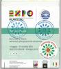 Plan Officiel EXPO MILANO 2015, en Italien. avec tampons & sticker du Pavillon du MAROC, int�rieur architecture des