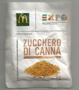EXPO UNIVERSELLE MILAN 2015.  Restaurant Mac Donald De L'Expo Milano, Sachet Sucre Spécial Pour L'EXPO, - Zucker