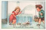 CPSM ENFANTS JOUANT AVEC DE L EAU LE PLOMBIER C EST UN MARIN HUMOUR 1958 - Scènes & Paysages