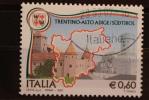 ITALIA USATI 2007 - LE REGIONI TRENTINO ALTO ADIGE SUDTIROL - RIF. G 1349 - QUALITA´ LUSSO - 2001-10: Afgestempeld