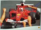 Shell Michael Schumacher Formule 1 Scuderia Ferrari Champion 2001. - Publicité
