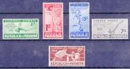 PANAMA - 1938 - Luchtpost/ PA..nrs. Yv&T Av 36/40 - 5 Waarden/ 5 Valeurs - Unused ** - Panama