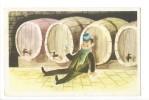 13386 -  Santé Homme Chapeau Devant Tonneaux - Humour