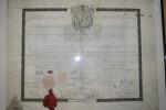 superbe et rare Doc ma�onnique fran�ais  sur peau an 5825 (1825) de Mr Demayencourt instituteur � Paris avec sceau ...