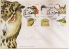 Portugal FDC 2002 -Aves De Portugal- Birds Bee Bird Eagle Owl Swallow Cuckoo Nighthawk - Oiseaux Tern Coucou Engoulevent - FDC