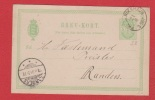 Danemark    // Entier Postal  //  De Rikshavn  //  Pour Randern   // 12/08/1894 - Entiers Postaux