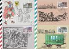 DDR Deutschland East Germany 1990 500 Jahre Postwesen 4 Maximumkarten - [6] République Démocratique