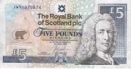 BILLETE DE ESCOCIA DE 5 POUND DEL AÑO 2005 CONMEMORATIVO NICKLAUS  (BANKNOTE) CAMPEON DE GOLF - [ 3] Escocia