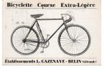 BICYCLETTE COURSE EXTRA-LEGERE - Et.CAZENAVE -BELIN - (Gironde) - Marchands