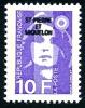 ST-PIERRE ET MIQUELON 1990 - Yv. 526 *   Faciale= 1,52 EUR - Mar.Bicentenaire 10f00 Violet ..Réf.SPM11060 - Neufs