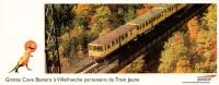 SNCF - LE TRAIN JAUNE - Pyrénées-Orientales : Grotte Cova Bastera Villefranche De Conflent - MARQUE PAGE CARTON - Transports