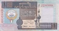 BILLETE DE KUWAIT DE 1 DINAR DEL AÑO 1994  (BANKNOTE) - Kuwait