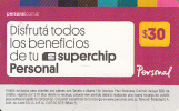 ARGENTINA - Personal Prepaid Card $30, Exp.date 30/04/16, Used - Argentinien