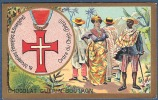 Chromo Chocolat Guerin-Boutron Décorations Françaises Et étrangères Ordre Du Christ Brésil Portugal Liseré Bleu - Guerin Boutron