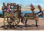 P3069 COSTUMI SICILIANI - CARRETTO - COSTUME, FALK, FALKLORE - GIRL, FEMME, FRAU - Annullo ENNA - Costumes