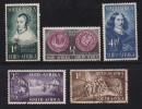 SOUTH AFRICA UNION 1952 Used Stamps Landing Of Jan Van Riebeeck Nrs. 224-228 - South Africa (...-1961)