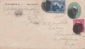 USA 1894 - 2 C Ganzsache + 2 F.Zusatzfrankierung Gel.1894 V. NY N. Netherlands - 1847-99 Unionsausgaben