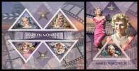 TOGO 2013 - Marilyn Monroe - YT 3348-51 + BF697; CV = 32 € - Acteurs