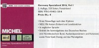 Germany Specialized Vol.I 2015 Neu 84€ Deutsche Reich Colonies Danzig Memel Stamps To 1945 Special Catalogue Old Germany - Other Collections