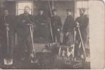 Oost West , Thuis Best   30/11/1914  Militair Uniform Schoppen En Kruiwagen Fotokaart WO I 1914 - 1918       Nr 5394 - Silly
