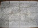 ANCIENNE PLAN CARTE TOPOGRAPHIQUE 1921 SPA GRAVURE J B DE LAHOESE MESTAGH ROUVREUX LA REID GLEIZE LOUVEIGNE FILOT ... - Mapas Topográficas